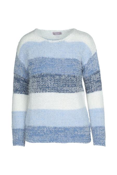 Knusse trui in tricot - Blauw