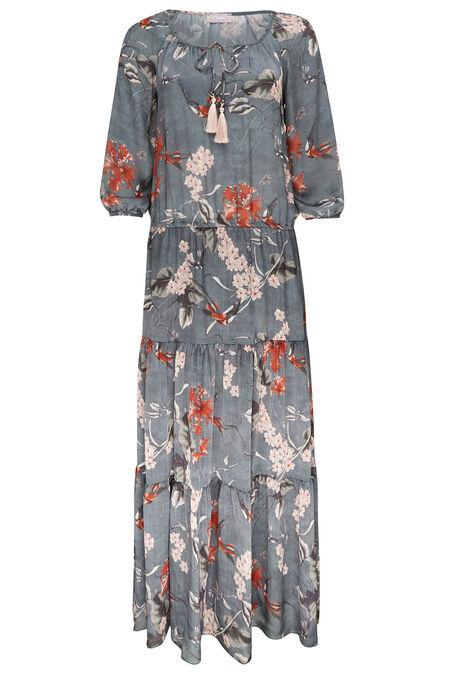 Robe imprimé japonisant - Kaki