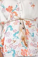 Tuniek met bloemenprint, Ecru