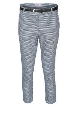 Pantalon imprimé graphique, Bleu
