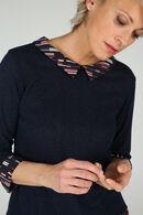 T-shirt in tricot 2-in-1, Marineblauw