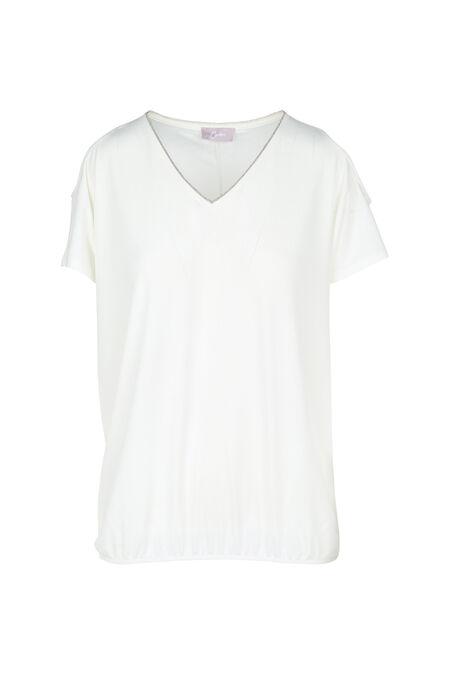 T-shirt épaules ouvertes - Ecru