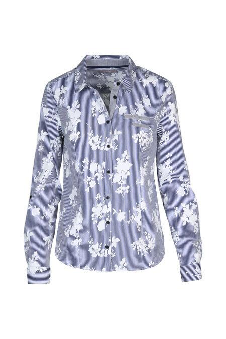 Chemise en coton imprimée - Bleu