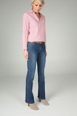 Brede jeans in biokatoen, Denim