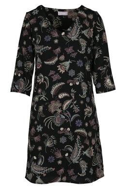 Robe imprimé faune et flore, Noir