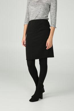 Rok in tricot met strepen, Zwart