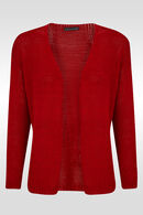 Losse cardigan, Rood