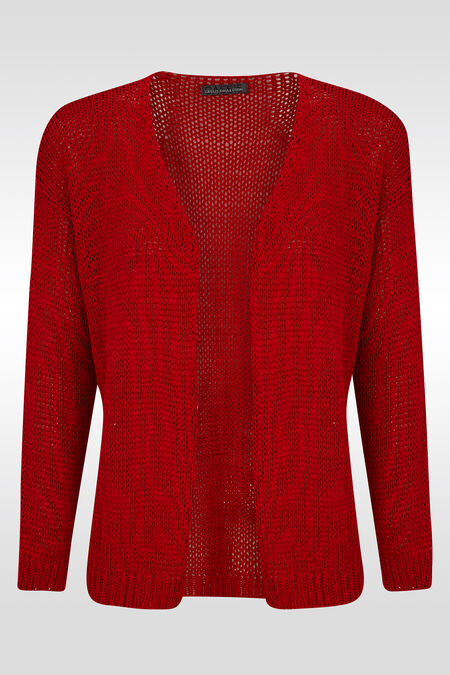Losse cardigan - Rood