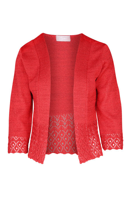 Cardigan in lurextricot - Rood