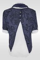 2-in-1 trui met arabeskdessin, Marineblauw