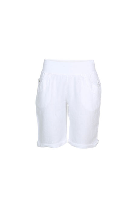 Linnen short - Wit