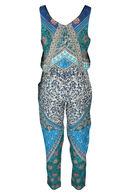 Combipantalon imprimée By Derhy, Turquoise
