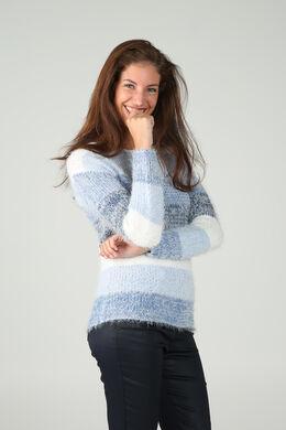 Knusse trui in tricot, Blauw