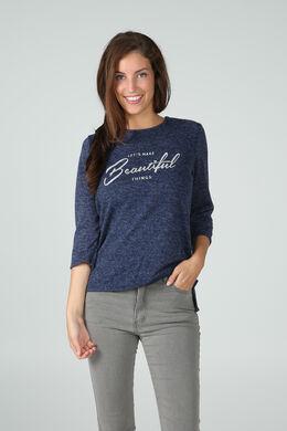 Sweater met print, Blauw