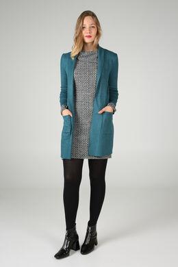 Lange jas in suèdine, Emerald groen