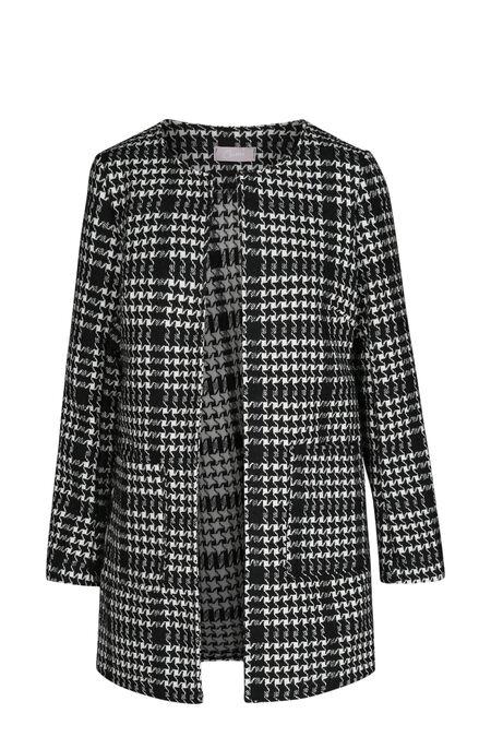 Veste imprimé à teneur en laine - Noir/Ecru