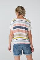 Pull en tissu rayé, multicolor