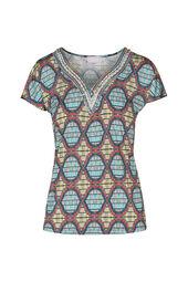 T-shirt imprimé Wax et perles