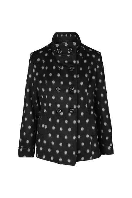 Mantel met stippen - Zwart