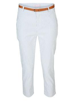 Pantalon imprimé rayures, Bleu
