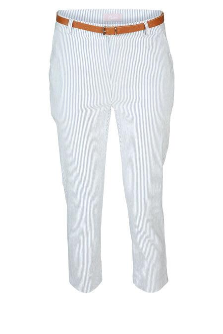 Pantalon imprimé rayures - Bleu