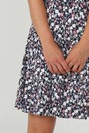 robe évasée imprimé fleuri, Marine