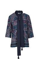 Bedrukte trui met 3/4-mouwen., Marineblauw