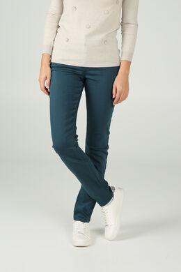 Pantalon détails cuir, Canard