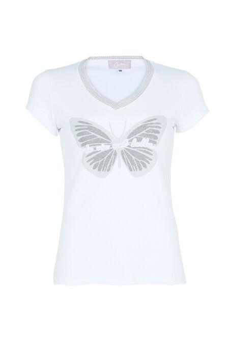 T-shirt la vie est belle - Ecru