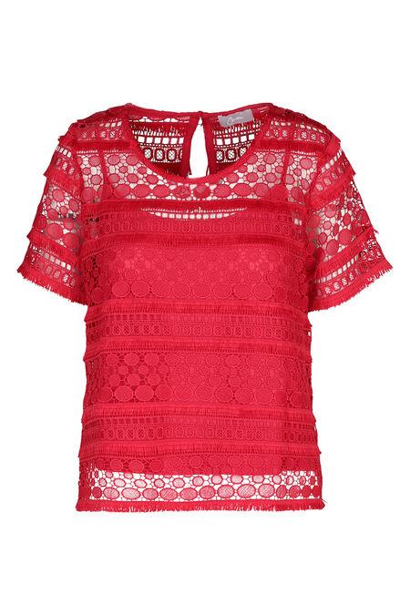 Kanten bloes - Rood