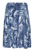 Rok bedrukt met palmen, Marineblauw