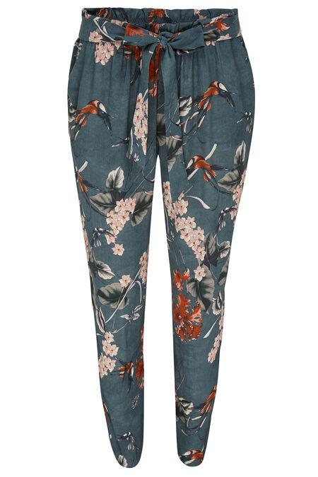 Pantalon fluide japonisant - Kaki