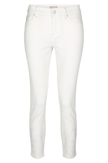 Pantalon slim 7/8 - Blanc