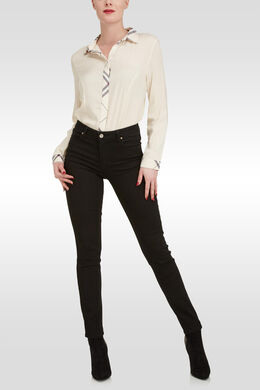 Jeans slim stretch, Noir