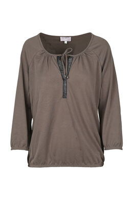 T-shirt encolure tunisienne, Taupe