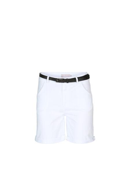 Short avec ceinture - Blanc