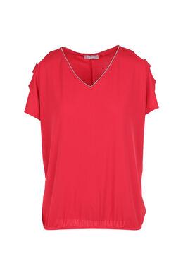T-shirt épaules ouvertes, Fushia