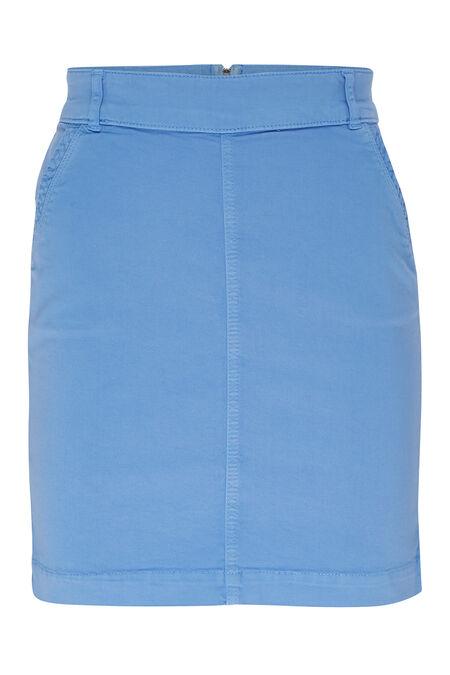 Jupe courte en coton - Bleu