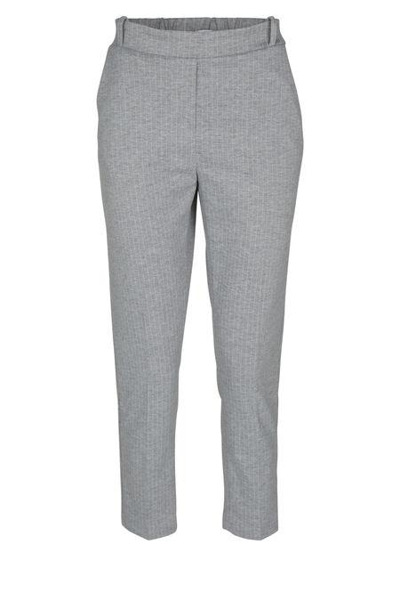 Pantalon de ville rayé - Gris-clair