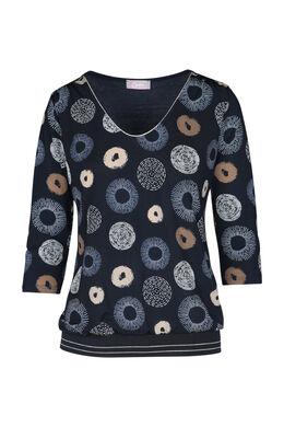 T-shirt met cirkels, Marineblauw