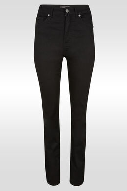 Rechte push-upbroek met hoge taille , Zwart