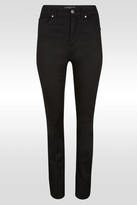 Pantalon push up droit taille haute  - Noir