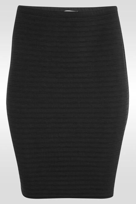 Rok in tricot - Zwart