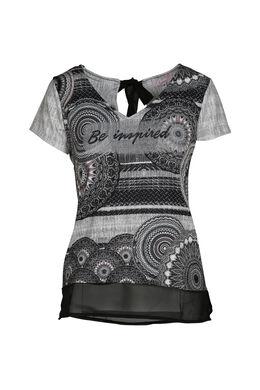 T-shirt imprimé be inspired, Noir/Ecru