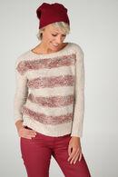 Pull bicolores à teneur en laine, Vieux rose