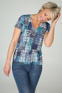 T-shirt imprimé, Turquoise