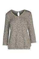 T-shirt in warm tricot met lurexgaren, Goud