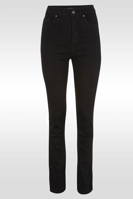 Jeans push up taille haute slim - Noir