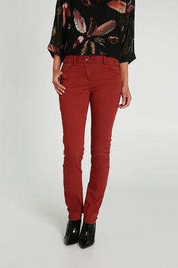 Pantalon slim en coton, Rouille