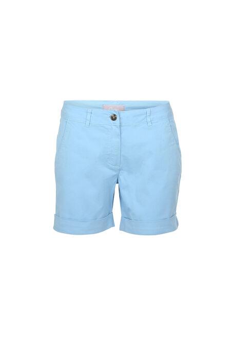 Short en coton - Ciel